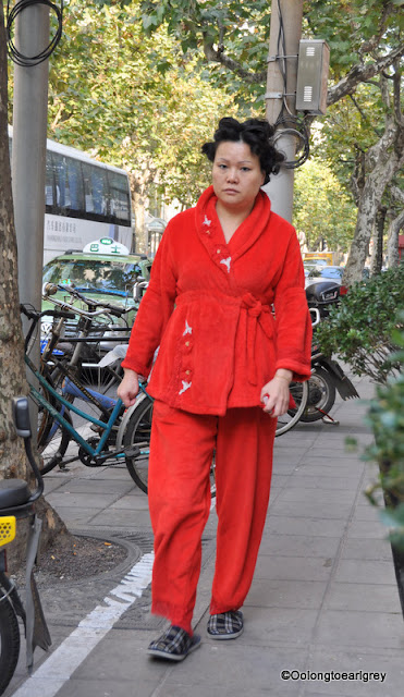PJ's on the streets of Shanghai