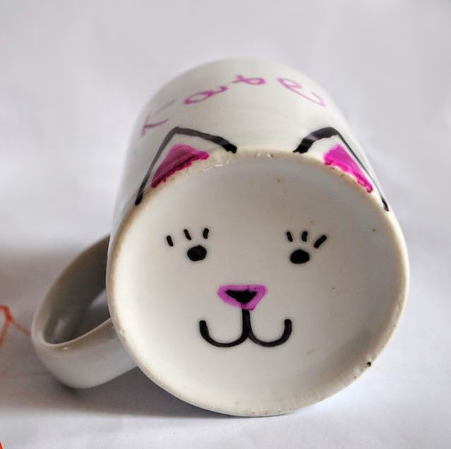 DIY cat ears mug