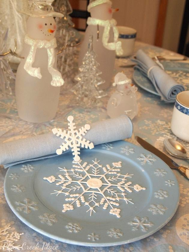 Plum Creek Place - Snowmen Winter Tablescape