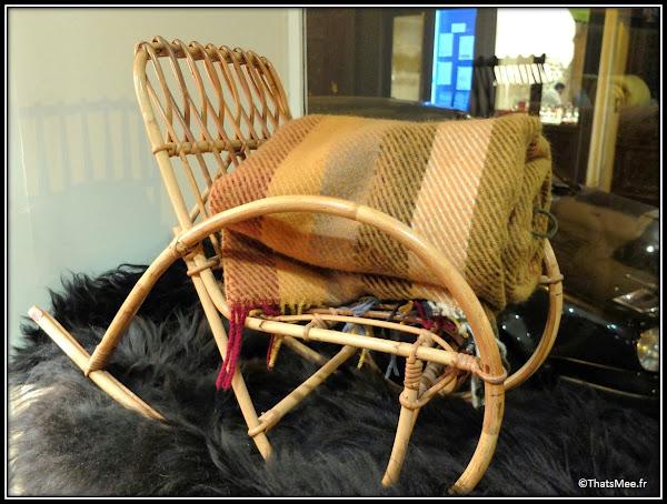 Jippi Design norvégien Peaux mouton renne meuble fauteuil scandinave ceramique pop-up store rue des blanc manteaux Marais Paris rocking chair osier