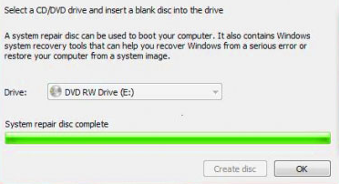 how to create system recovery disk windows 7