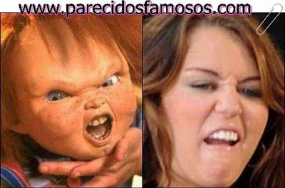 Chucky y Miley Cyrus
