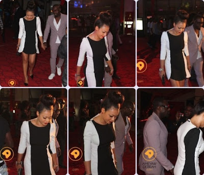 Nollywood Actor Jim Ike And Actress Nadia Buari Stepout Hand in Hand at the Ghana Music Awards