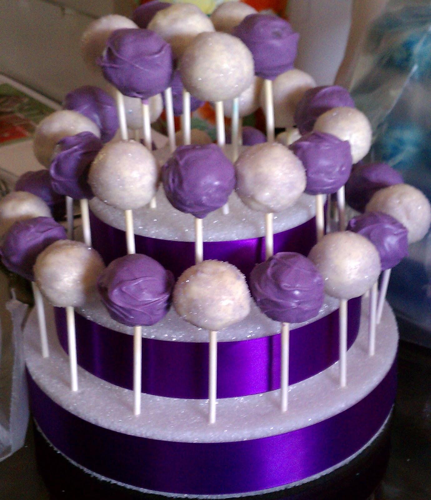 Purple Velvet Cake Pops