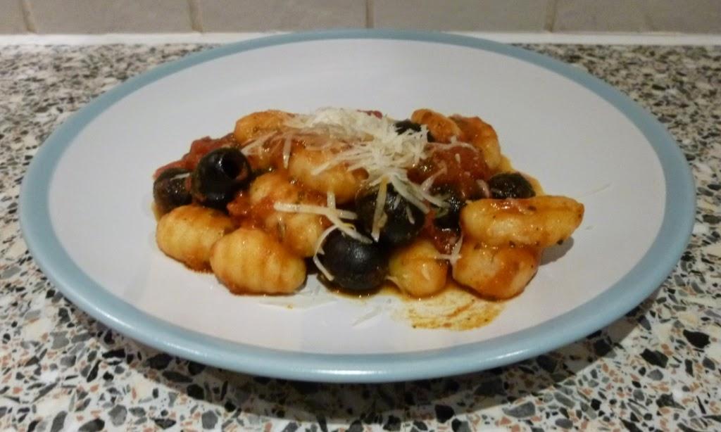 Gluten free Gnocchi from Rustichella d'Abruzzo with a tomato and basil sauce