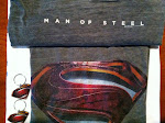 Man of Steel tshirt,key chain,poster giveaway