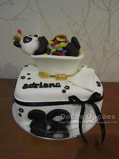 O Panda num banho de pintarolas