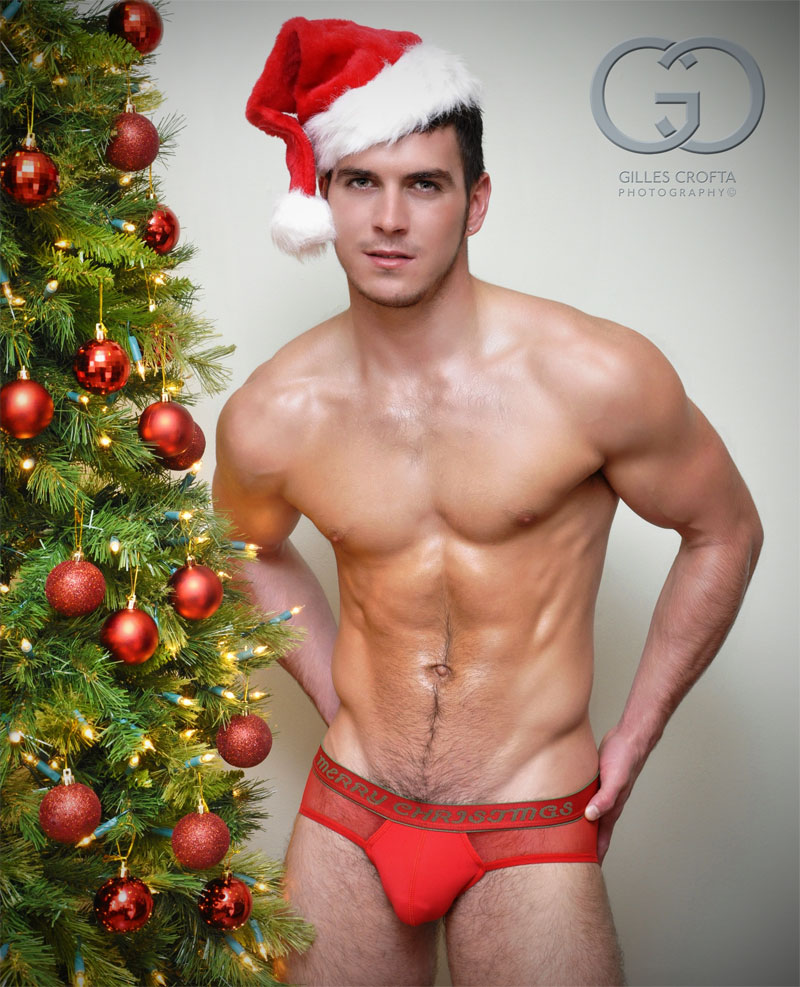 Hot gay men merry christmas santa.