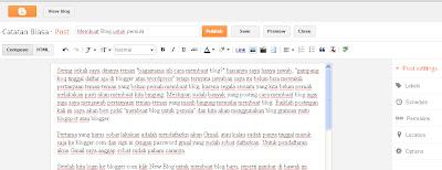 membuat blog untuk pemula