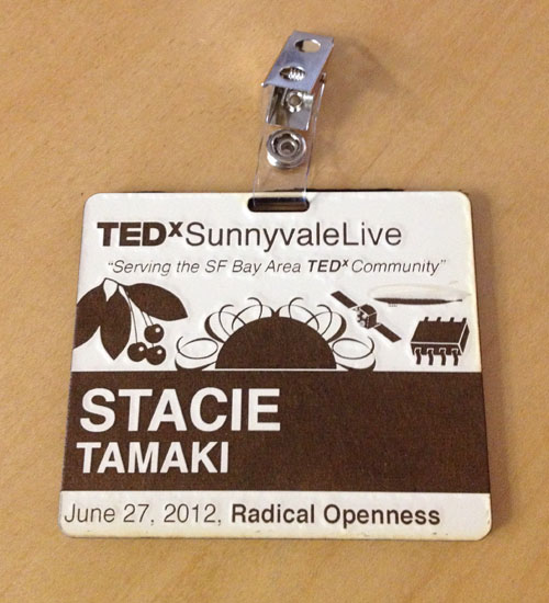 TEDxSunnyvaleLive Name Badge/