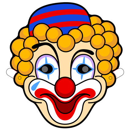 Clown Mask Printable