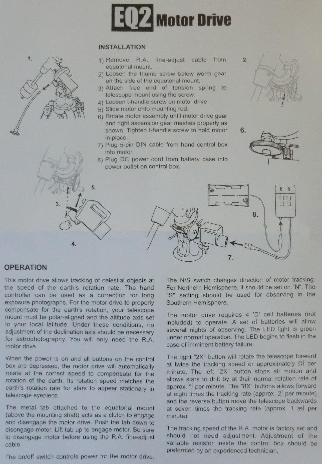 Astro-Beano: Multi-speed motor for SkyWatcher EQ2 mount