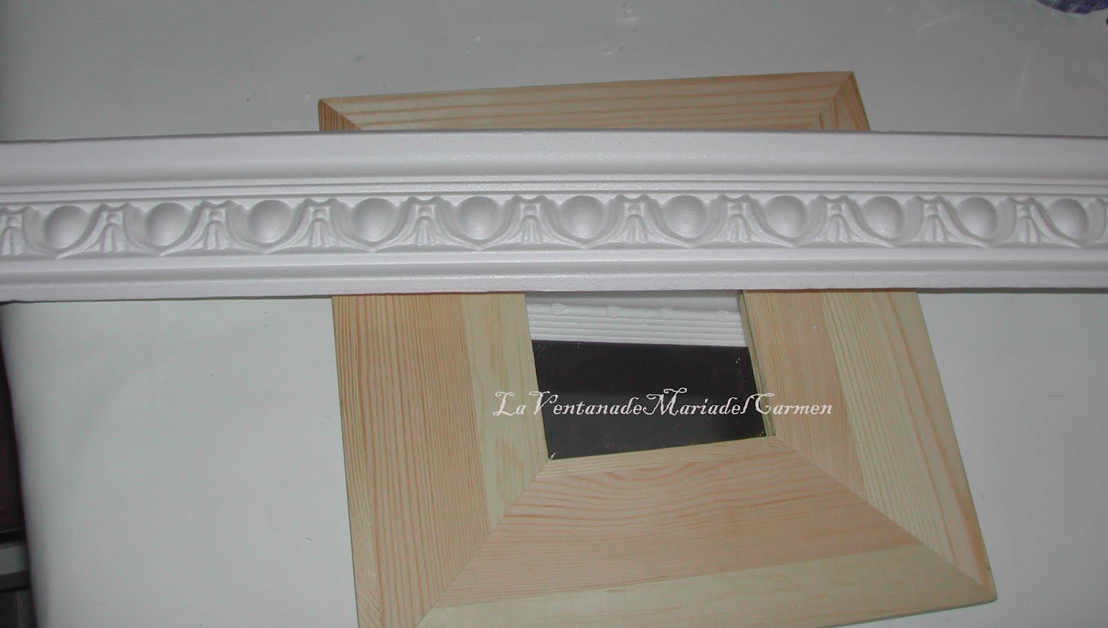 Manualidades la ventana de maria del carmen decoraci n - Molduras decorativas leroy merlin ...
