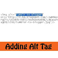 alt tag in blogger