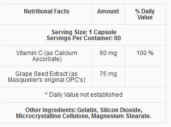 Thành phần Thực phẩm chức năng Vein Formula Nuskin