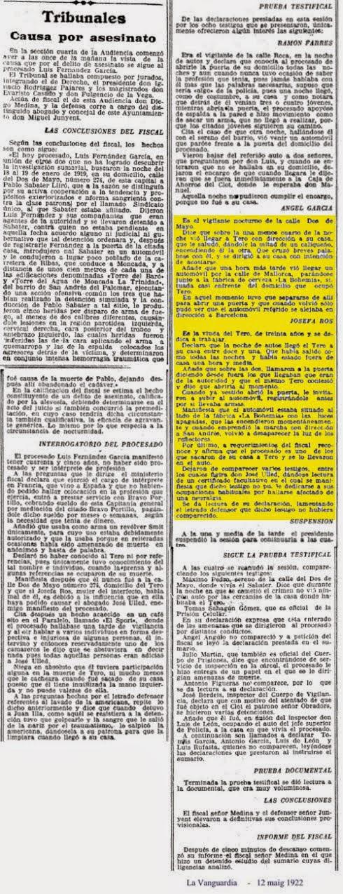 La Vanguardia 1922