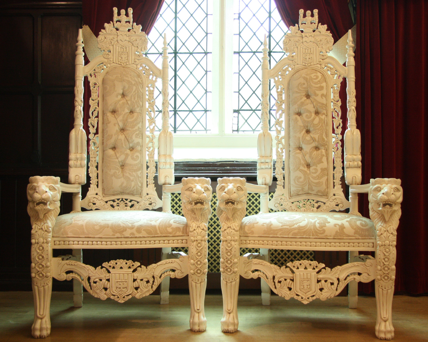 King And Queen Chair Rental Posh Chair Covers And Bows: Bride And Groom Wedding Throne Hire