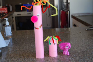 Pink craft project for little girls
