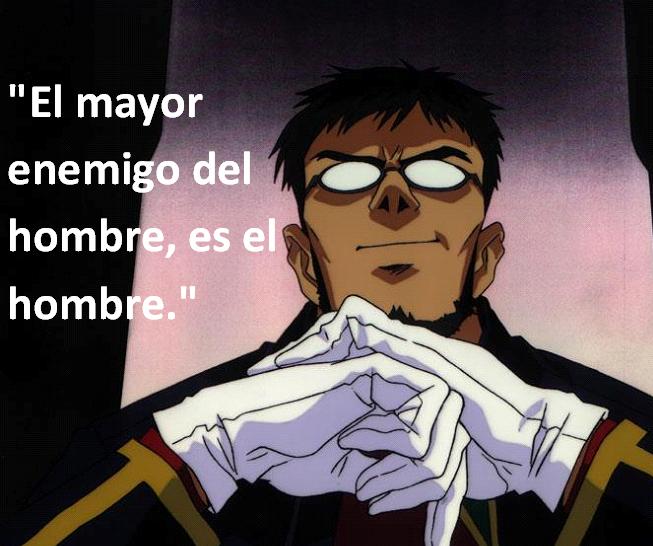 Frases con fotos del anime. Gendo+Ikari