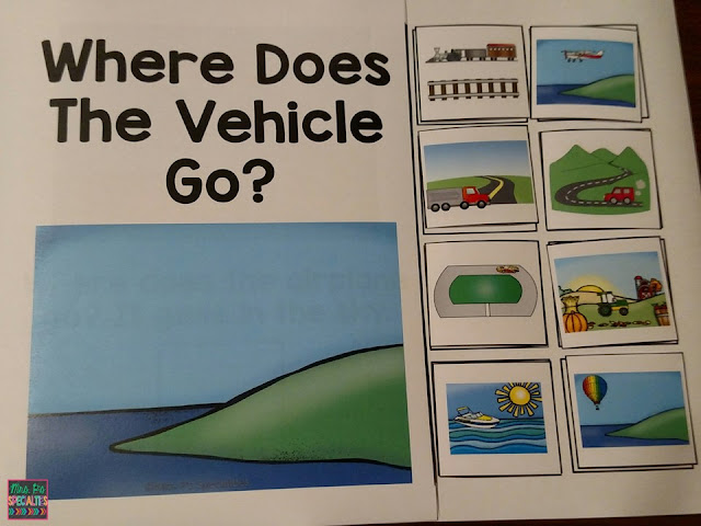 Interactive book- transportation unit- hands on learning