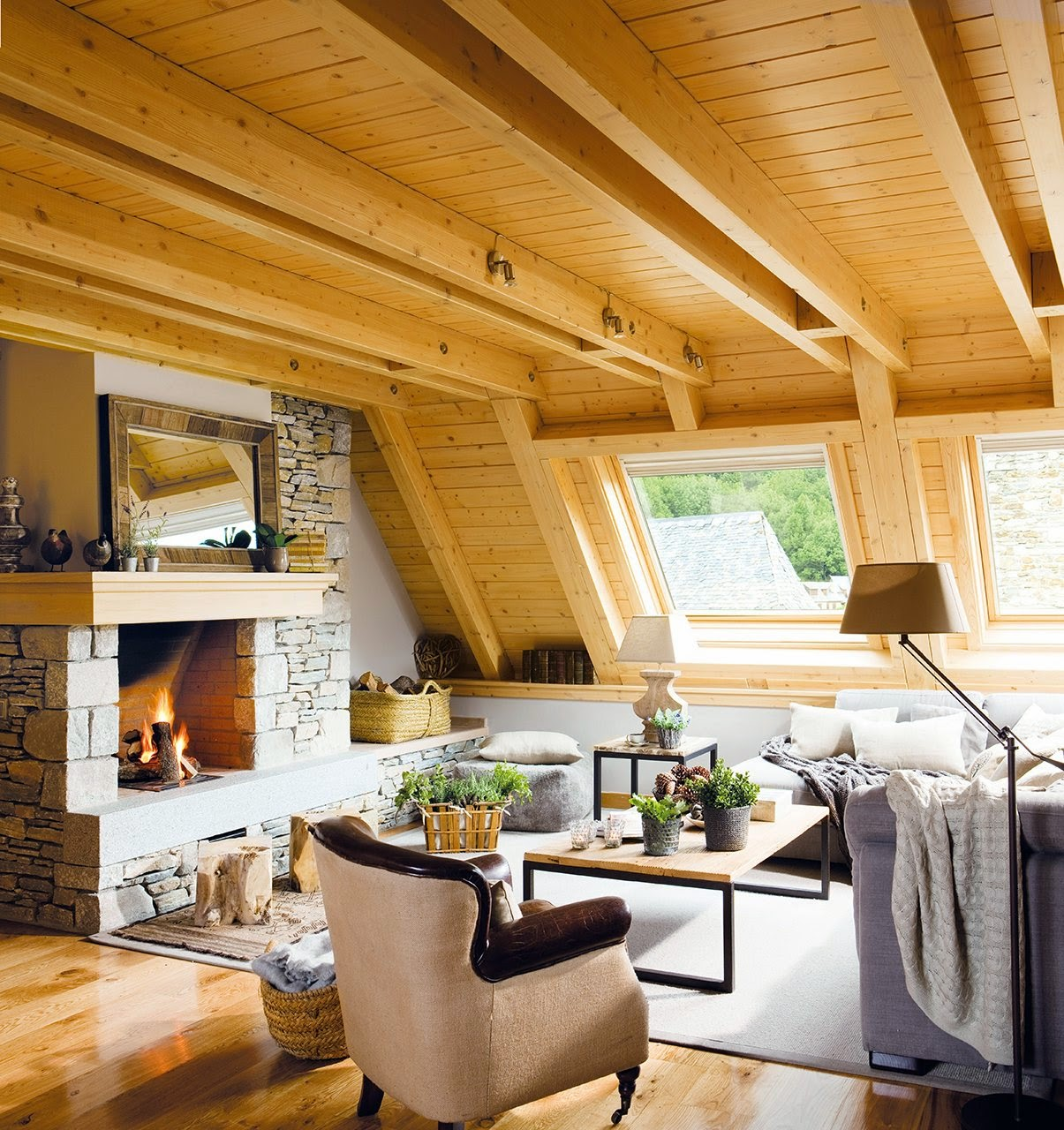 la buhardilla es un espacio apropiado para ampliar la vivienda si la usas para situar los dormitorios