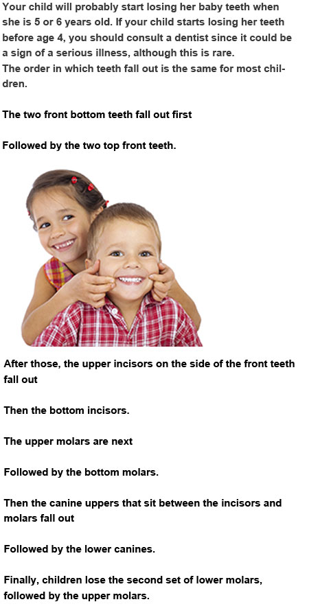 What teeth do kids lose first