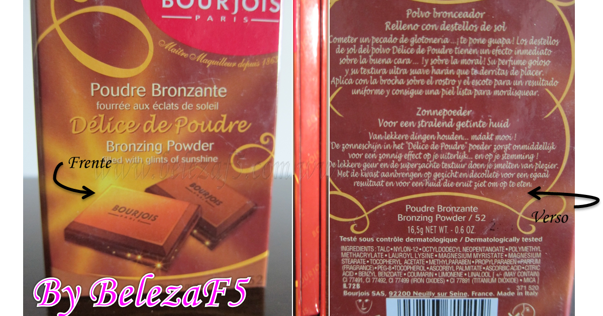 bourjois poudre bronzante paris bronzer com cheiro de chocolate beleza f5. Black Bedroom Furniture Sets. Home Design Ideas