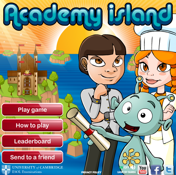 http://www.cambridgeenglish.org/prepare-and-practise/games-social/academy-island/