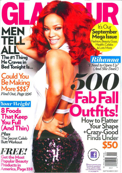 Rihanna @ 'Glamour' Magazine September 2011