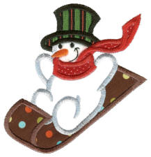cute snowmen applique machine embroidery designs collection