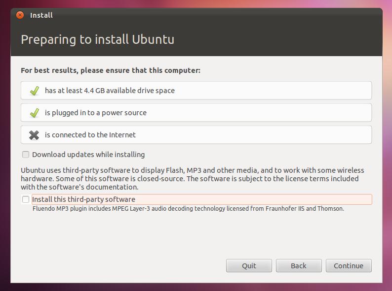 Komputer siap diinstali Ubuntu