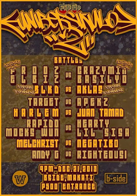 Unibersikulo 2, FlipTop, Dos Por Dos 2 tournament Finals, Isabuhay Tournament Finals, Tournament Finals, Anygma, Fliptopbattles The Fliptop Battle League