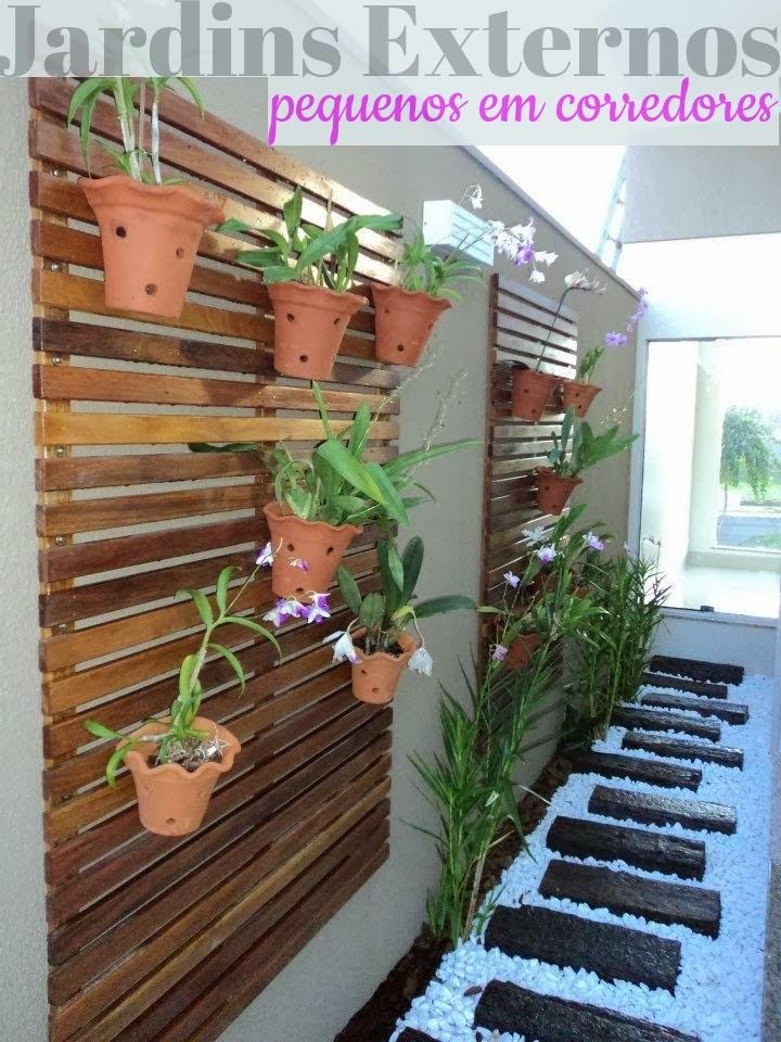 pedras jardins pequenos : pedras jardins pequenos:Construindo Minha Casa Clean: Jardins Externos Pequenos em Corredores!