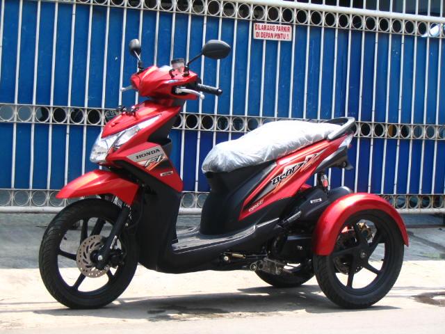 contoh modifikasi motor roda tiga