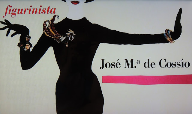 Minimalist costume design with collaged jewels for Almodovar