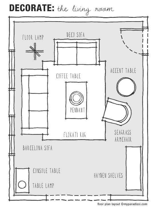 Decorate the living room my paradissi for Living room design floor plan
