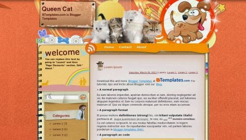 Queen Cat - Free Blogger Template