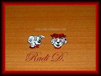 101 Dalmatians decoration on a plastic piece