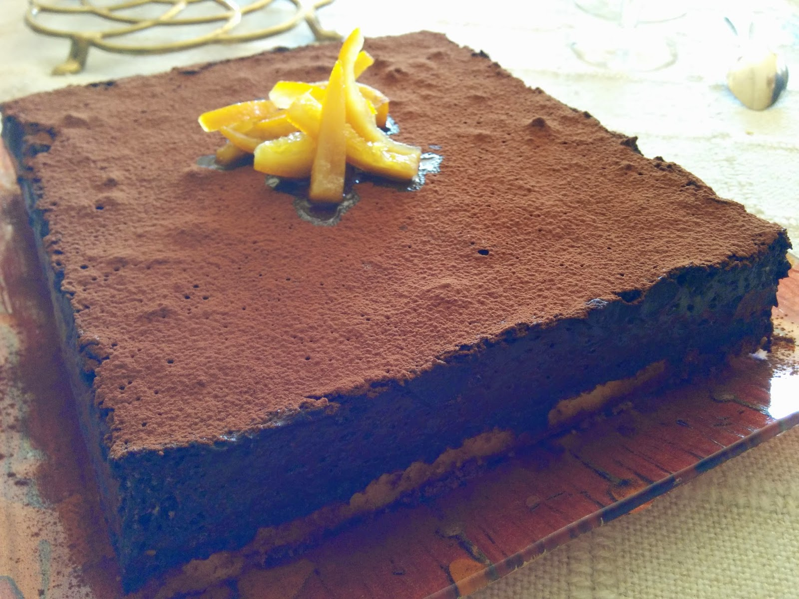 gâteau Pâques chocolat orange sans gluten