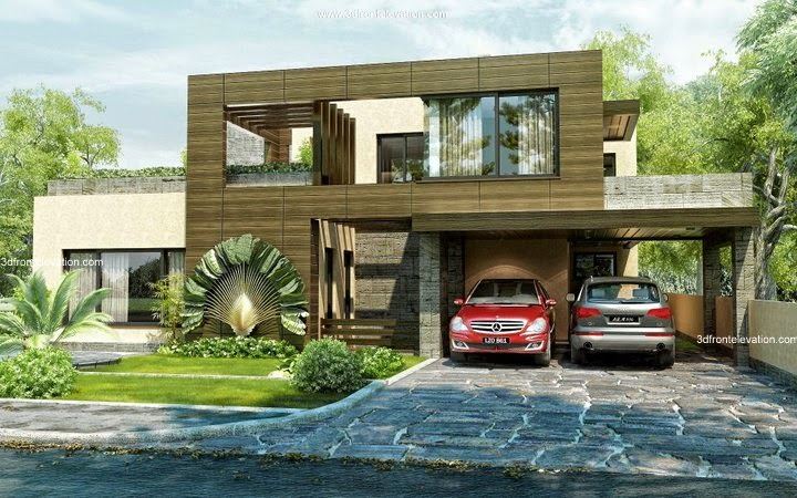 Front Elevation In Lahore : D front elevation beautiful modern style house