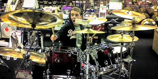 Kid Drum Solo in music Store