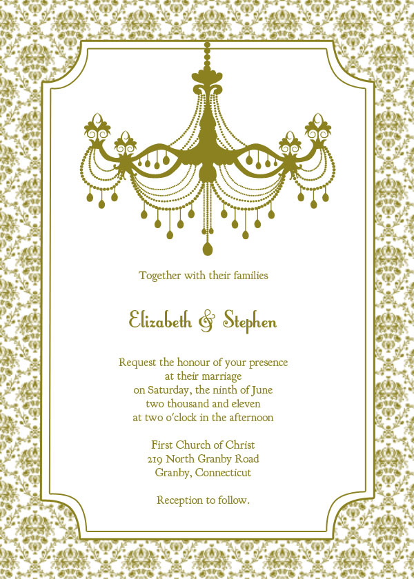 free wedding invitation card templates, Wedding invitation