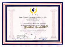 Divine Académie Française des Arts, Lettres et Culture - Diplome de Membre D'Honneur