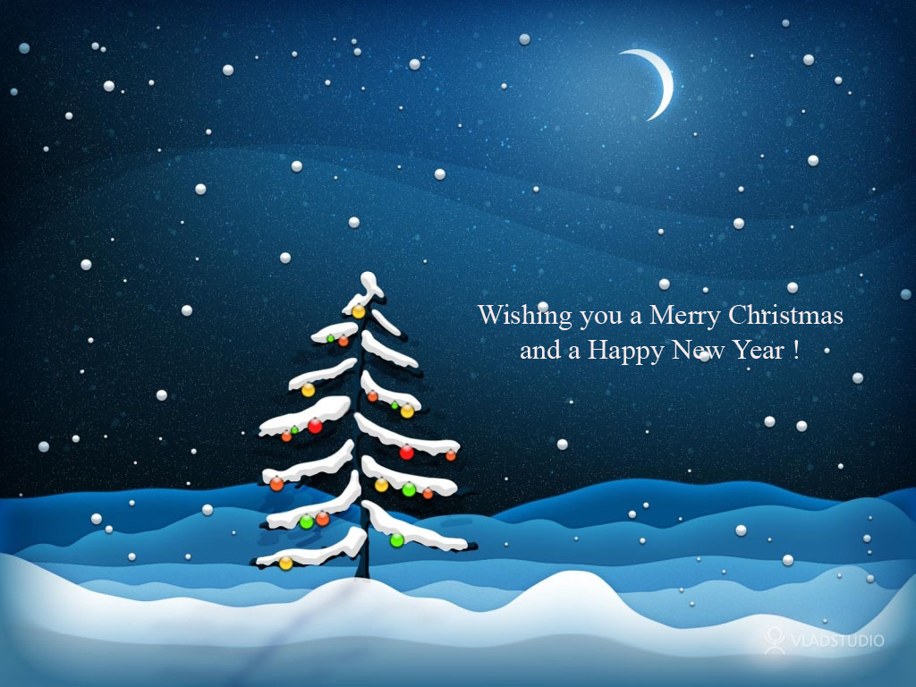 Wallpaper World Christmas And New Year Wishes