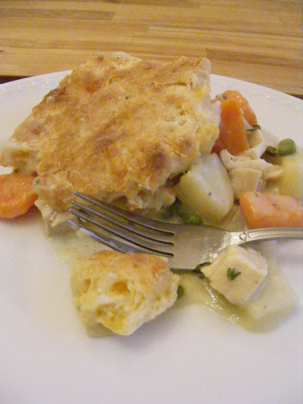 ... SavourTheSeason} Day 13: Chicken Pot Pie with Cheesy Biscuit Crust