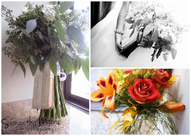 wedding flowers and prayer book