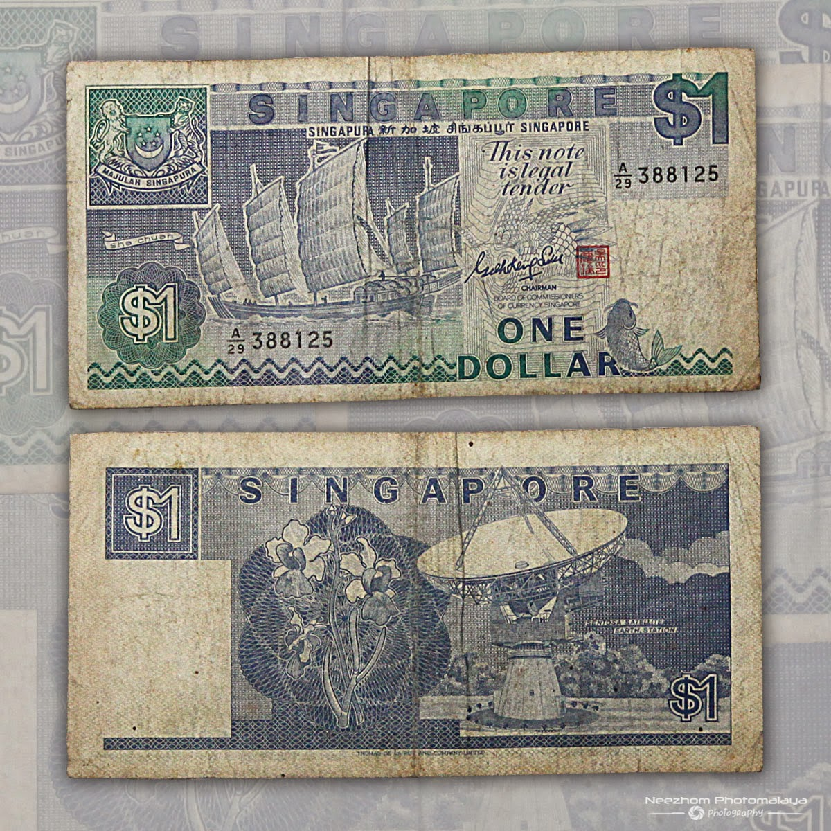 One Dollar Singapore Ship Series