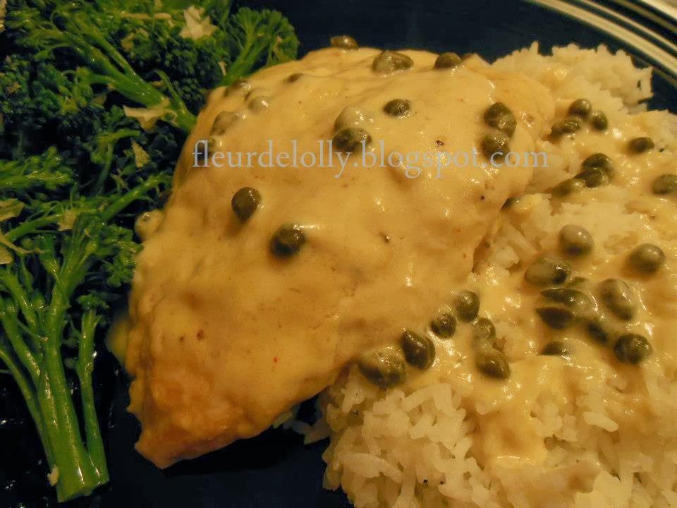Fleur de Lolly: Chicken Cutlets with Creamy Dijon Caper Sauce