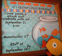 invitation for goldfish birthday party