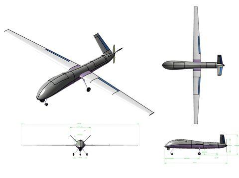 Desain UAV Male PT Diragantara Indonesia